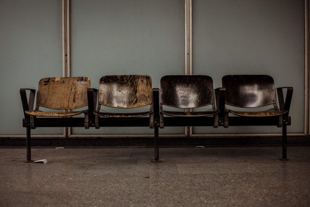 dirty infected waiting room