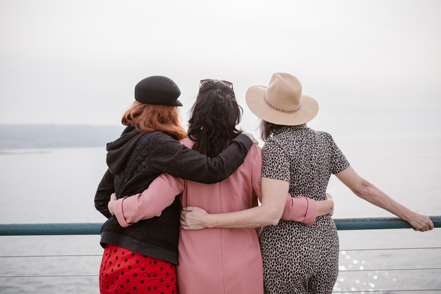 women holding each other up and supporting them with viosapp